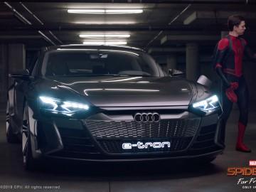 Elektryczne Audi i Spider-Man