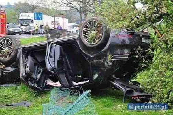 Pierwszy wypadek z udziałem Porsche Macan