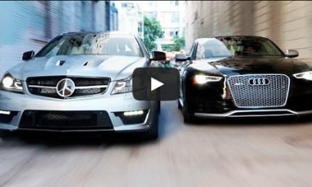 Audi RS5 vs Mercedes Coupe C63 AMG