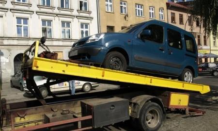 Odholowany samochód?