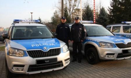Skoda Yeti w policji