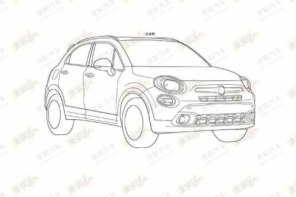 Fiat 500X na szkicach patentowych