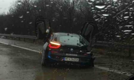 Rozbity prototyp BMW i8