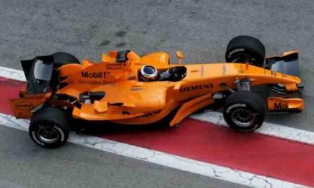Pomarańczowy bolid McLarena?