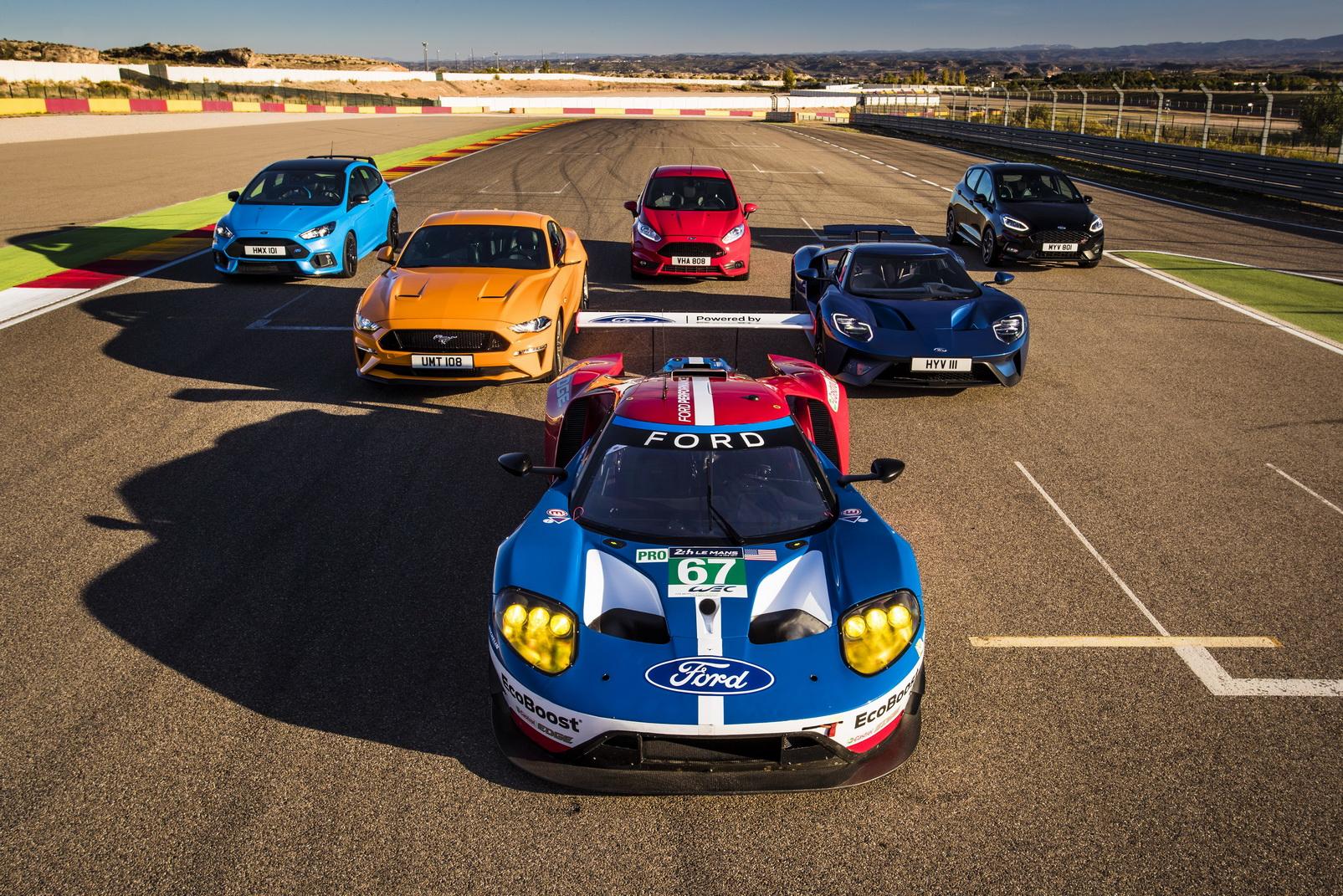 Modele Ford Performance na torze