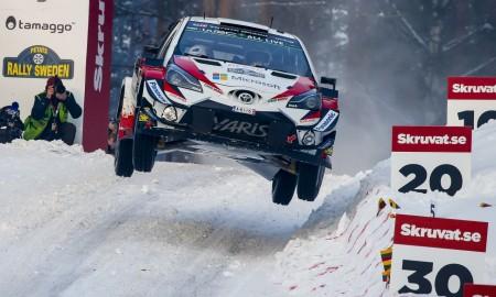 Marcus Grönholm w Yarisie WRC w Rajdzie Szwecji