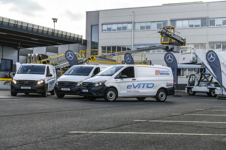Elektryczne Vito w służbie na lotnisku