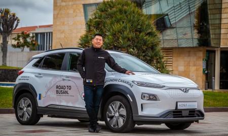 Z Gran Canarii do Busan Hyundaiem Kona Electric