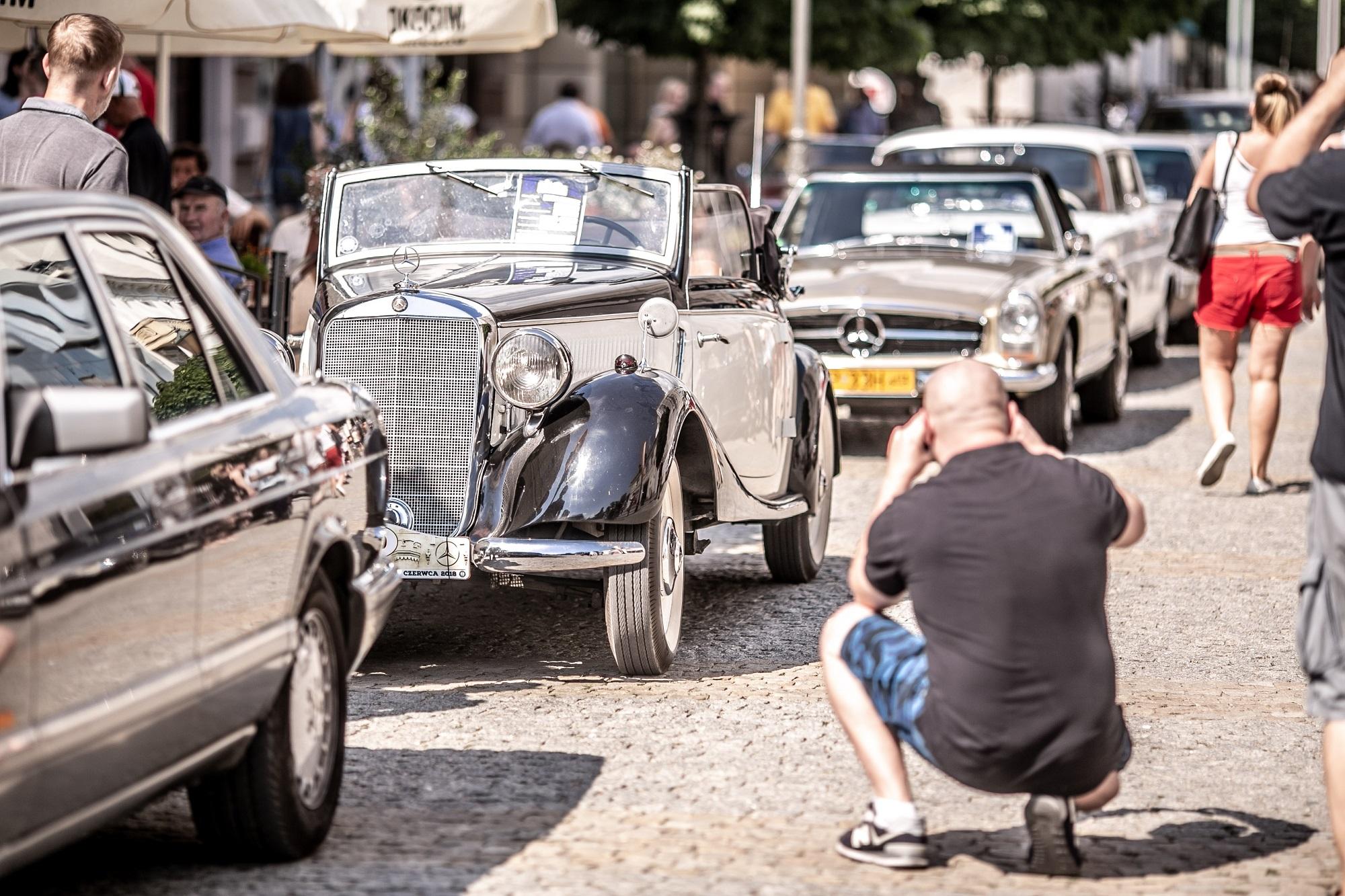 Klasyczne Mercedesy w Płocku