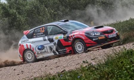 Zespół Subaru na litewskich szutrach
