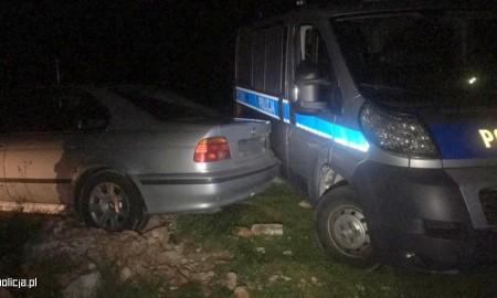 Był pijany, uciekał i uszkodził radiowóz