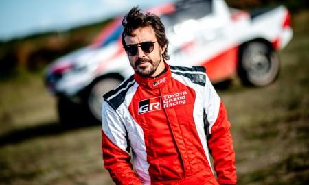 Fernando Alonso testował w Szczecinie Toyotę Hilux