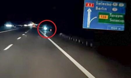 Jechał na hulajnodze autostradą pod prąd bo...