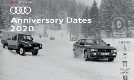 Najważniejsze jubileuszowe daty Audi roku 2020