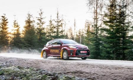 Toyota GR Yaris na trasie Rajdu Szwecji