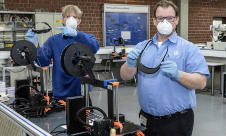 VW produkuje osłony chroniące twarz techniką druku 3D
