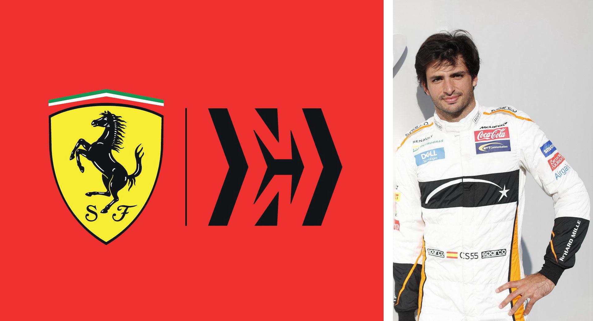 Carlos Sainz w Ferrari