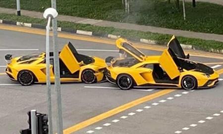 Kraksa dwóch Lamborghini Aventador S