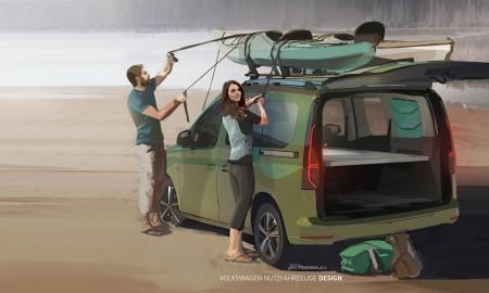 VW Caddy mini kamper – Spanie pod gwiazdami