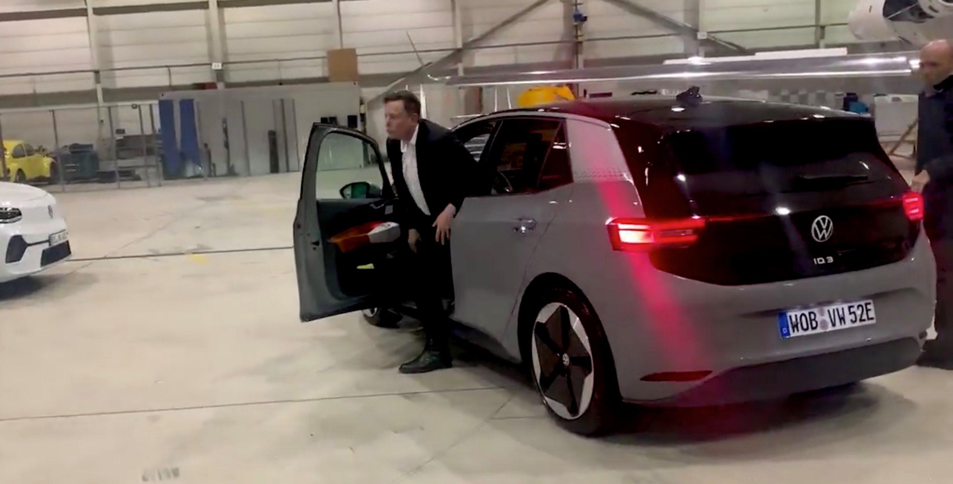 Elon Musk za kierownicą VW ID.3