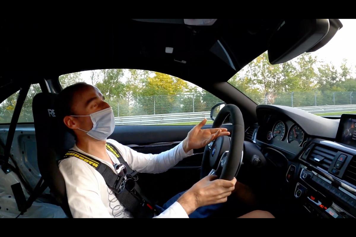 Robert Kubica w BMW M4 na Nurburgringu
