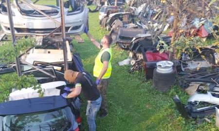 Odzyskane części pochodzące z aut skradzionych w Europie