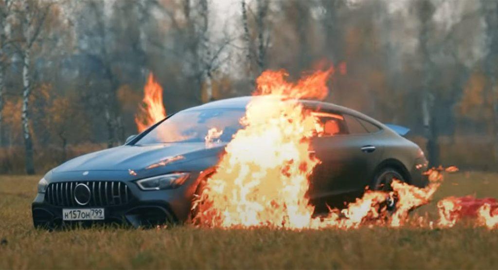 Spalił Mercedesa-AMG GT 63 S