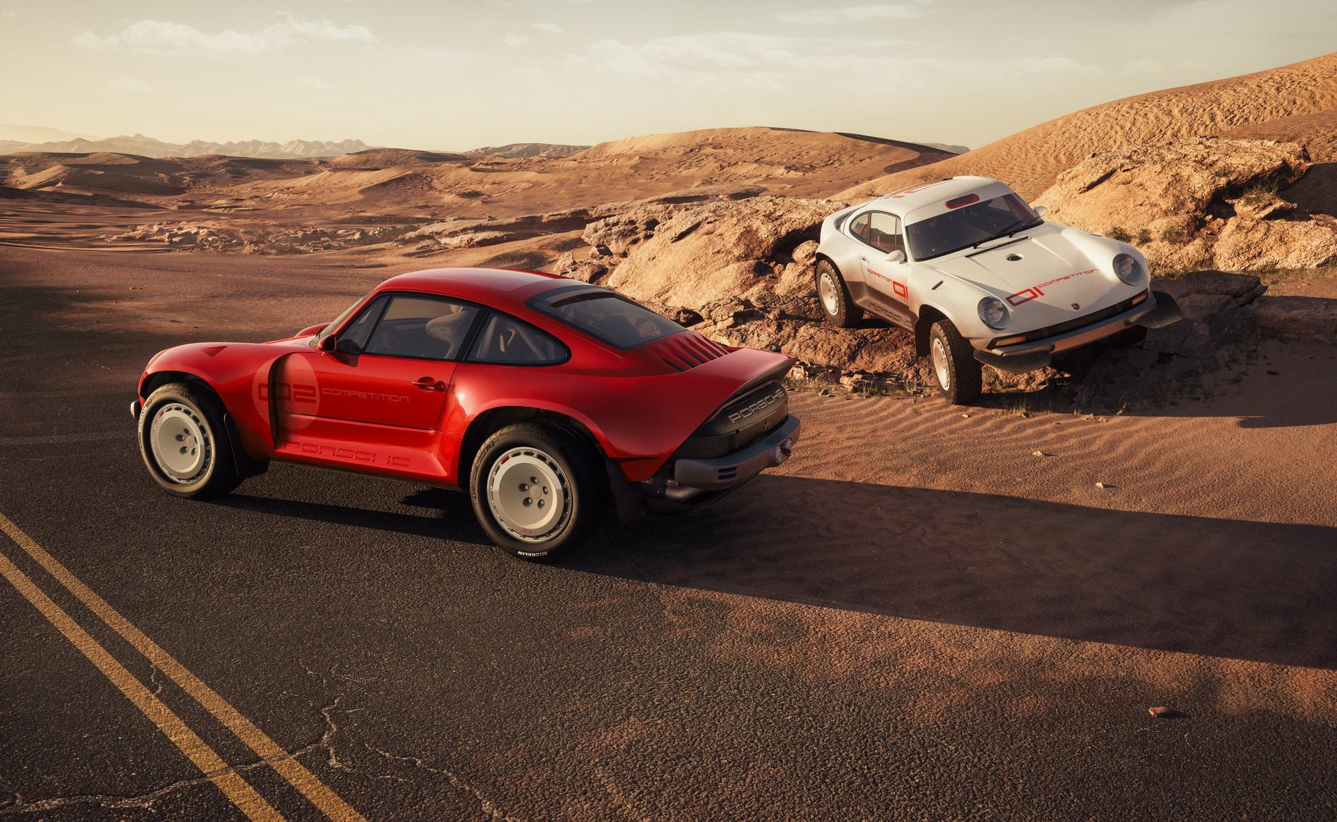 Singer ACS w stylu dakarowego Porsche 911
