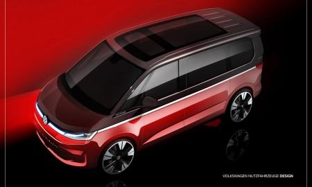 VW Multivan T7 na szkicach