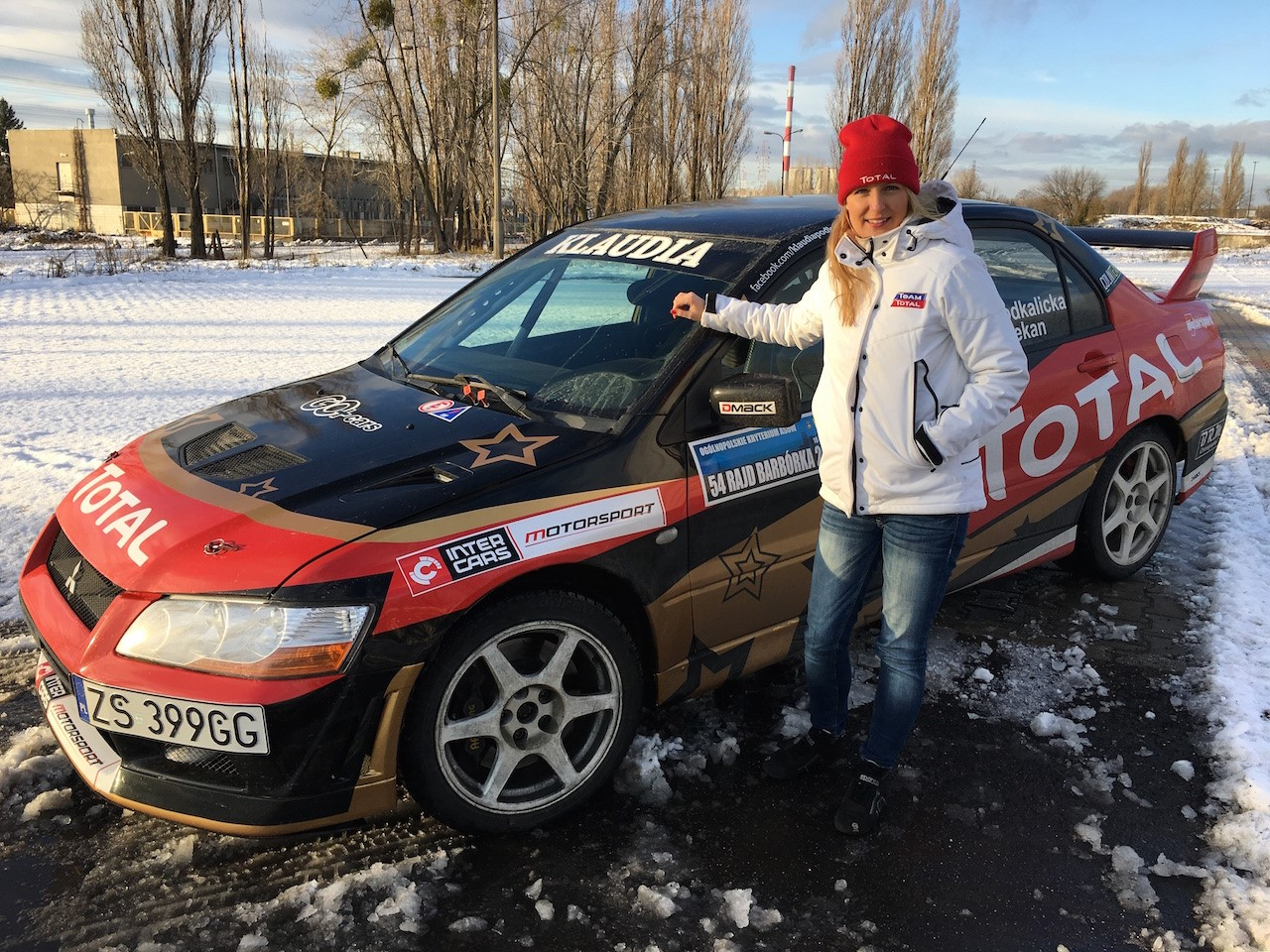 Klaudia Podkalicka - jedyna kobieta za kierownicą startuje w Barbórce