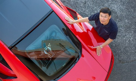 Yasuhide Sakamoto o nowej Hondzie NSX