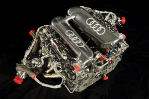 The first V12 TDI engine of the Audi R10 TDI